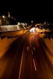 Ιερουσαλήμ, Nightshot Στοκ Φωτογραφίες