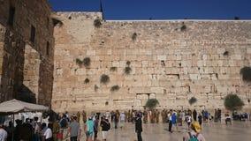 ΙΕΡΟΥΣΑΛΗΜ, ΙΣΡΑΗΛ - 31 08 2015: Ο wailing τοίχος του αρχαίου ναού του Ισραήλ στην Ιερουσαλήμ Στηριγμένος από Herod ο μεγάλος στοκ εικόνες
