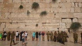 ΙΕΡΟΥΣΑΛΗΜ, ΙΣΡΑΗΛ - 31 08 2015: Ο wailing τοίχος του αρχαίου ναού του Ισραήλ στην Ιερουσαλήμ Στηριγμένος από Herod ο μεγάλος στοκ εικόνα με δικαίωμα ελεύθερης χρήσης