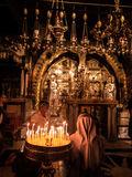 Ιερουσαλήμ, Ισραήλ - Juli 15, 2016: Πέτρινο Golgotha, η θέση Στοκ Εικόνες