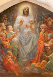 Ιερουσαλήμ - του Ιησού μεταξύ των παιδιών στην εκκλησία αγγλικανών του ST George από το τέλος 19 σεντ Στοκ εικόνα με δικαίωμα ελεύθερης χρήσης