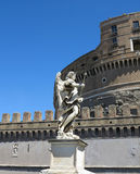 Ιερός άγγελος Castle Castel Sant ` Angelo στη Ρώμη, Ιταλία Αψίδα της Ρώμης Στοκ εικόνα με δικαίωμα ελεύθερης χρήσης