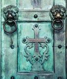 Ιερός διαγώνιος, παλαιός, πόρτα, καθεδρικός ναός της Αμάλφης Στοκ Φωτογραφίες