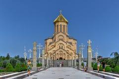 Ιερός καθεδρικός ναός τριάδας - Tbilisi, Γεωργία στοκ εικόνα