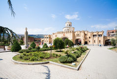 Ιερός καθεδρικός ναός τριάδας του Tbilisi Στοκ φωτογραφίες με δικαίωμα ελεύθερης χρήσης