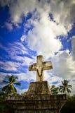 Ιερός σταυρός πετρών παρεκκλησιών τριάδας, Anjuna, Goa, Ινδία Στοκ εικόνες με δικαίωμα ελεύθερης χρήσης
