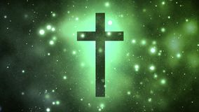 Ιερός σταυρός στον ουρανό ελεύθερη απεικόνιση δικαιώματος
