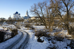 Ιερός χειμώνας μοναστηριών Bogolyubovo Στοκ εικόνα με δικαίωμα ελεύθερης χρήσης