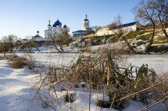 Ιερός χειμώνας μοναστηριών Bogolyubovo Στοκ εικόνες με δικαίωμα ελεύθερης χρήσης