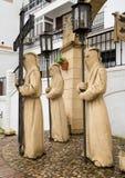 Ιερό άγαλμα εβδομάδας Arcos de στο Λα Frontera κοντά στο Καντίζ Ισπανία Στοκ Εικόνες