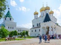 Ιερό αρσενικό μοναστήρι Ipatievsky τριάδας, Kostroma, χρυσό δαχτυλίδι στοκ φωτογραφία με δικαίωμα ελεύθερης χρήσης