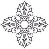 Ιερό βουδιστικό θρησκευτικό σύμβολο - vajra ή dorje, διάνυσμα Στοκ Φωτογραφία