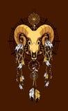 Ιερό ζωικό emblema Aries διανυσματική απεικόνιση
