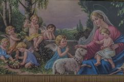 ιερό θέμα σε μια ζωγραφική στοκ φωτογραφία με δικαίωμα ελεύθερης χρήσης