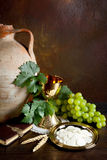 ιερό κρασί ψωμιού Στοκ εικόνες με δικαίωμα ελεύθερης χρήσης