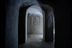 Ιερό μοναστήρι σπηλιών τριάδας Undergroind σε Kholky, περιοχή Belgorod Στοκ φωτογραφίες με δικαίωμα ελεύθερης χρήσης