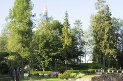 Ιερό μοναστήρι Pskov-σπηλιών Dormition στοκ εικόνες