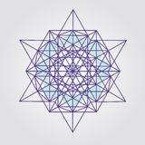 Tetrahedron αστεριών σχέδιο ελεύθερη απεικόνιση δικαιώματος