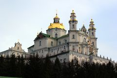 Ιερό Dormition Pochayiv Lavra σε Pochayiv, Ουκρανία Στοκ Εικόνα