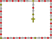 ιερό rosary Πλαίσιο με rosary Στοκ Εικόνες