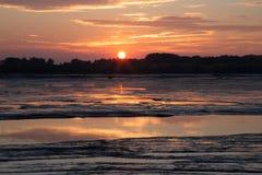 Ιζήματα στο φράγμα στον ποταμό Δούναβη Στοκ φωτογραφία με δικαίωμα ελεύθερης χρήσης