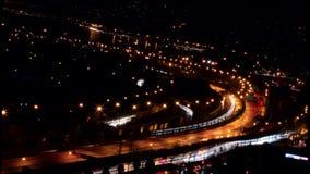 Ιζμίρ τή νύχτα - timelapse φω'τα αυτοκινήτων απόθεμα βίντεο