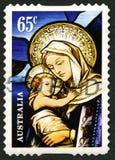 Ιησούς και αυστραλιανό γραμματόσημο της Mary Στοκ φωτογραφίες με δικαίωμα ελεύθερης χρήσης