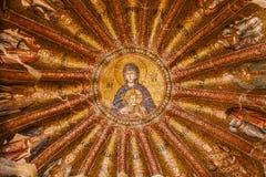 Ιησούς και μωσαϊκό της Mary στην εκκλησία Chora Στοκ Φωτογραφίες