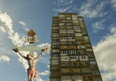 Ιησούς στο σταυρό - σωτηρία Στοκ φωτογραφίες με δικαίωμα ελεύθερης χρήσης