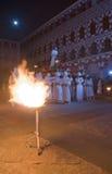 Ιησούς Χριστός και φλόγες Στοκ Εικόνα