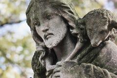 Ιησούς Χριστός - ο καλός ποιμένας (σύνθεση τέχνης) στοκ φωτογραφία με δικαίωμα ελεύθερης χρήσης