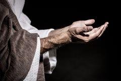 Ιησούς Χριστός που προσεύχεται πρίν νηστεύει στοκ φωτογραφίες