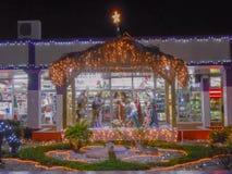 Ιησούς Family και φίλοι στα Χριστούγεννα στοκ εικόνα