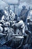 Ιησούς Heals οι άρρωστοι διανυσματική απεικόνιση