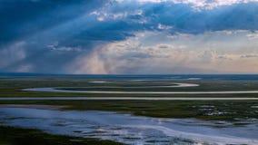 Ιησούς Light-Bayanbulak Grassland Στοκ Εικόνες