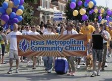 Ιησούς Metropolitan Community Church στην υπερηφάνεια Indy Στοκ φωτογραφία με δικαίωμα ελεύθερης χρήσης