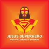 Ιησούς Superhero Επίπεδη απεικόνιση Διανυσματική απεικόνιση