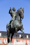 ΙΙΙ άγαλμα της Μαδρίτης Philip βασιλιάδων Στοκ φωτογραφίες με δικαίωμα ελεύθερης χρήσης