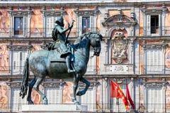 ΙΙΙ βασιλιάς άγαλμα plaza δημάρχου Philip Στοκ Φωτογραφία