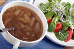 ΙΙΙ σούπα σαλάτας κρεμμυ Στοκ φωτογραφίες με δικαίωμα ελεύθερης χρήσης