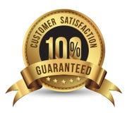 ικανοποίηση πελατών 100% που εγγυάται Στοκ Φωτογραφία