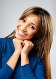 ικανοποιημένη γυναίκα στοκ φωτογραφία με δικαίωμα ελεύθερης χρήσης