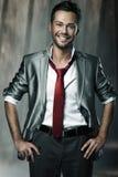Ικανοποιημένος χαμογελώντας επιχειρηματίας Στοκ φωτογραφία με δικαίωμα ελεύθερης χρήσης