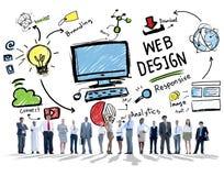 Ικανοποιημένο ψηφιακό γραφικό σχεδιάγραμμα Webdesign Webpage δημιουργικότητας συμπυκνωμένο στοκ εικόνα με δικαίωμα ελεύθερης χρήσης