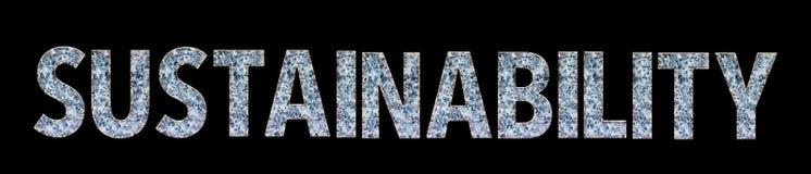 ΙΚΑΝΟΤΗΤΑ ΥΠΟΣΤΉΡΙΞΗΣ λέξης από τη μαρμάρινη πηγή ύφους σχεδίων Στοκ Εικόνα