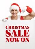 Ικανότητα Άγιος Βασίλης με τις πωλήσεις εμβλημάτων Στοκ Φωτογραφίες