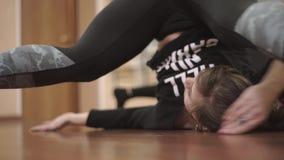 Ικανότητα, αθλητικός χορός, που εκπαιδεύει στην κινηματογράφηση σε πρώτο πλάνο γυμναστικής, βίντεο απόθεμα βίντεο