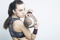Ικανότητα, αθλητικές έννοιες και ιδέες Αθλητικό καυκάσιο αμερικανικό Φ Στοκ Εικόνες