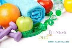 Ικανότητα και διατροφή, υγιή τρόφιμα στοκ εικόνα