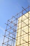 Ικρίωμα στο εργοτάξιο οικοδομής Στοκ εικόνες με δικαίωμα ελεύθερης χρήσης